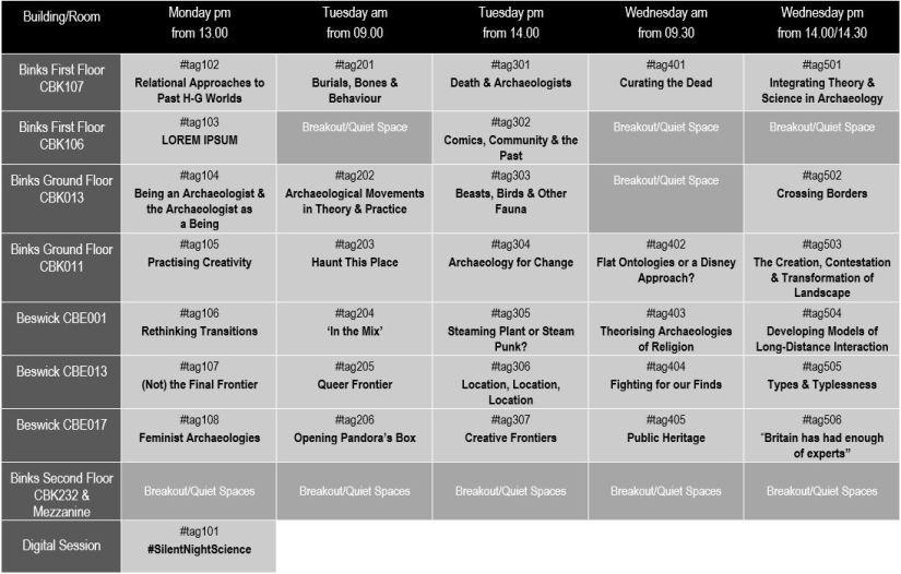 Simple Timetable for#TAGDeva